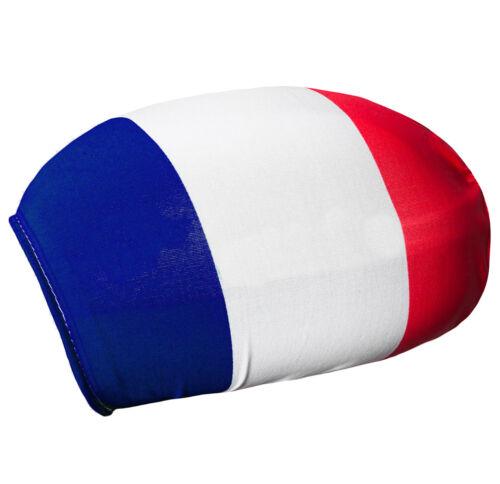 2er Set Spiegelflagge Frankreich Außenspiegel Fahne Flagge PKW Fußball EM WM