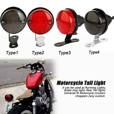 Black Motorcycle UniversalStop Vintage Tail Brake Stop Light Rear lamp For Harley Honda Suzuki Yamaha Cafe Racer Chopper Cruiser