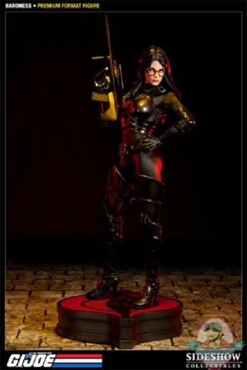 G.I. Joe Baroness Premium Format Figure Sideshow Used DAMAGED JC
