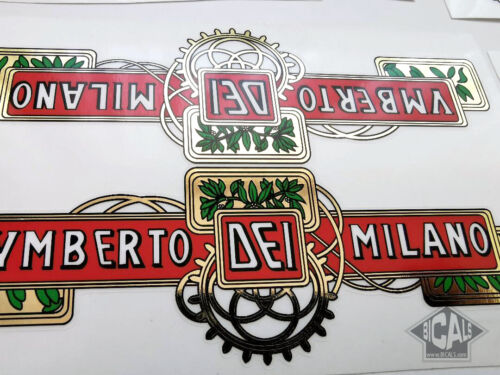 cicli epoca FREE SHIPPING UMBERTO DEI decal set sticker complete bicycle