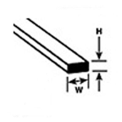 Plastruct Styrene Strip MS-308 90734 Pack 10 x 0.8mm x 2.0mm 250mm Lengths 1st