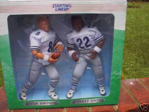 Troy Aikman & Emmitt Smith 12  Starting Lineup Figures