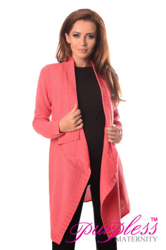Purpless Maternity Pregnancy and Nursing Cascade Open Front Cardigan Coat 9003