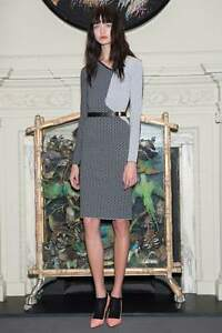 Roland-Mouret-034-Nassau-034-Black-White-dress-in-chain-birdseye-jacquard-knit-Dress-M
