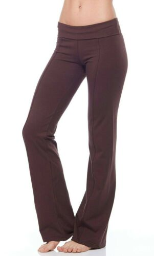 Long YOGA PANT FOLD OVER Pant Fitness Wear LONG Leggings Track Pant Womens Pants
