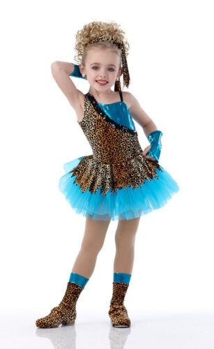 Cheetah Animal Adventure Dance Tutu Ballet Costume Mitts Child S 6X7 M L Adult M
