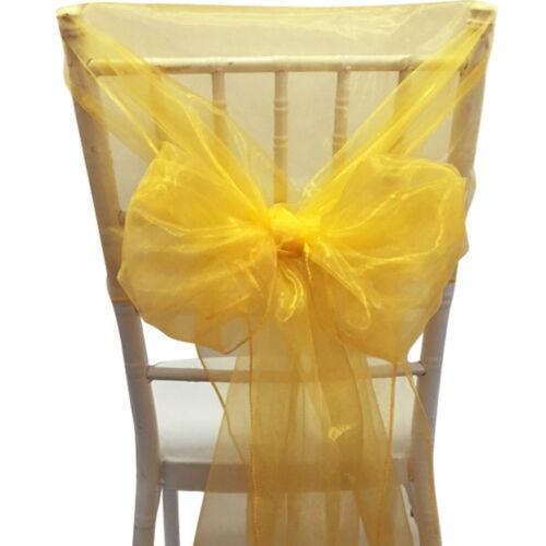 50 Organza Chair Hoods Sashes Organza Chair Cover Bow Hood Sash Wedding Party