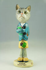 SECRETARY SILVER TABY CAT-SEE INTERCHANGEABLE BREEDS & BODIES @ EBAY STORE