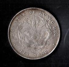 1908 CHINA DRAGON DOLLAR, 34Th YEAR OF KUANG HSU - CHIHLI, PEI YANG - RICONIO