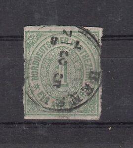 Norddeutscher-Bund-Mi-Nr-7-geschnitten-gestempelt-1868