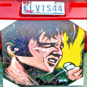 King-ELVIS-Presley-034-039-68-COMEBACK-034-DAVE-GARABALDI-Ltd-FRAMED-ART-ACRYLIC-PAINTING