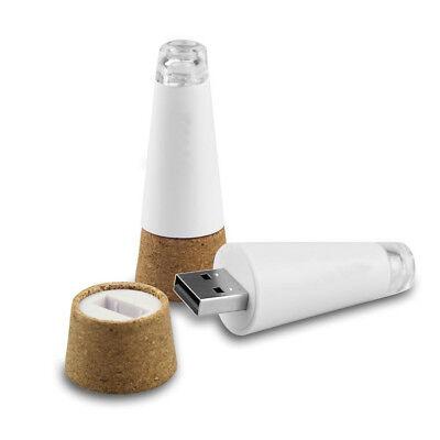 Tappo per Bottiglia vino con luce LED sughero Ricaricabile USB per feste natale