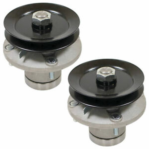 2 PK Spindle Assembly with Pulley for John Deere AM108925