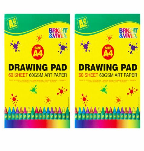 2 X A4 Dibujo Pad Niños Arte y Artesanía 60gsm 120 páginas