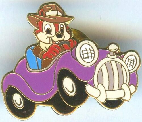 "Disney Pins AAA Travel Package Pin /""Chip/"" of Chip and Dale in Purple Car Pin"
