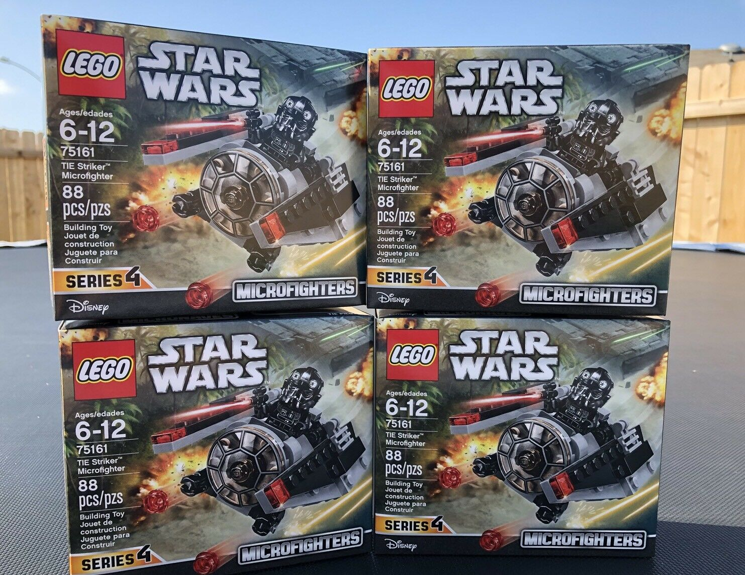 Lot Of Of Of 4   75161 LEGO Star Wars Microfighters Series 4 TIE Striker NEW 0c4562