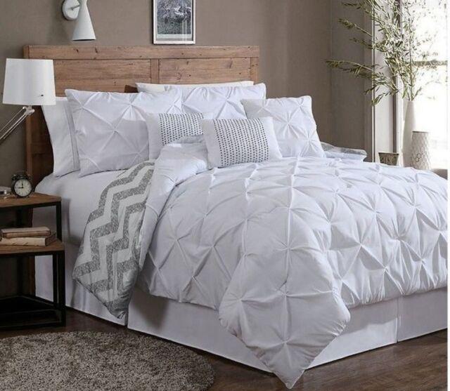 Avondale Manor Ella Reversible Queen 7 Piece Comforter Set In White