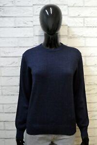 Maglione-FAY-Donna-Taglia-M-Pullover-Cardigan-Sweater-Woman-Blu-Lana-Vergine