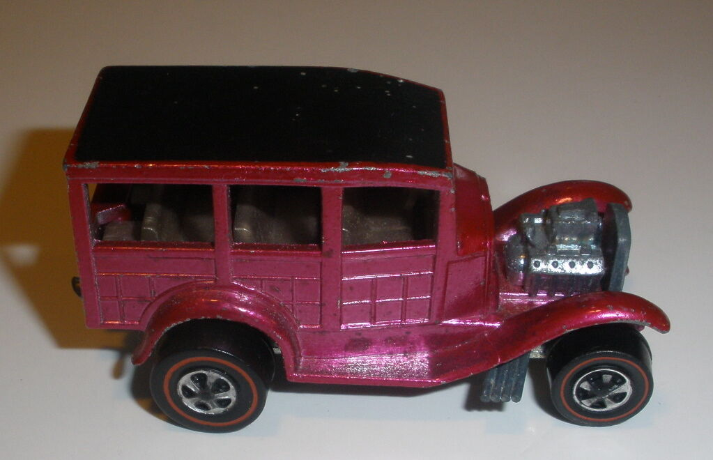 Hot wheels redline Classic 31 Ford Woody good condition Pink