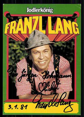 Sammeln & Seltenes Franzl Lang Autogrammkarte Original Signiert ## Bc 18988 Original, Nicht Zertifiziert