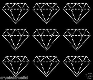 9x-75mm-Diamond-Outline-iron-on-Rhinestone-Transfer-crystal-hotfix-applique