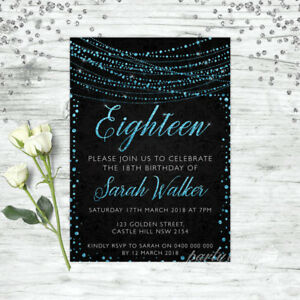 18TH-BIRTHDAY-INVITATIONS-AGE-EIGHTEEN-PERSONALISED-PARTY-SUPPLIES-INVITE-BLUE