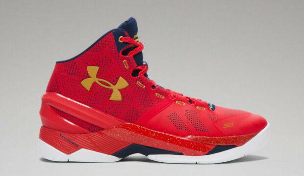 Under Armour Stephen Curry 2 Floor General USA Red Gold Olympics Size 13. mvp