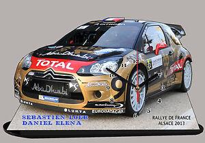 RALLYE MONTE CARLO 2013 en horloge AUTO RALLYE MINIATURE,LOEB CITROEN DS3 WRC