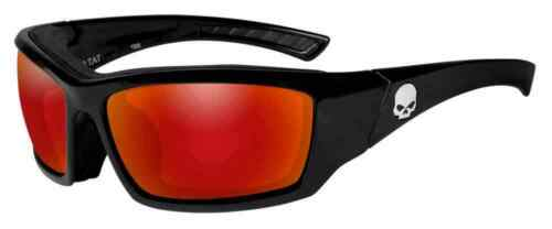 Red Mirror Lenses HATAT13 Harley-Davidson Men/'s Tat Skull Gasket Sunglasses