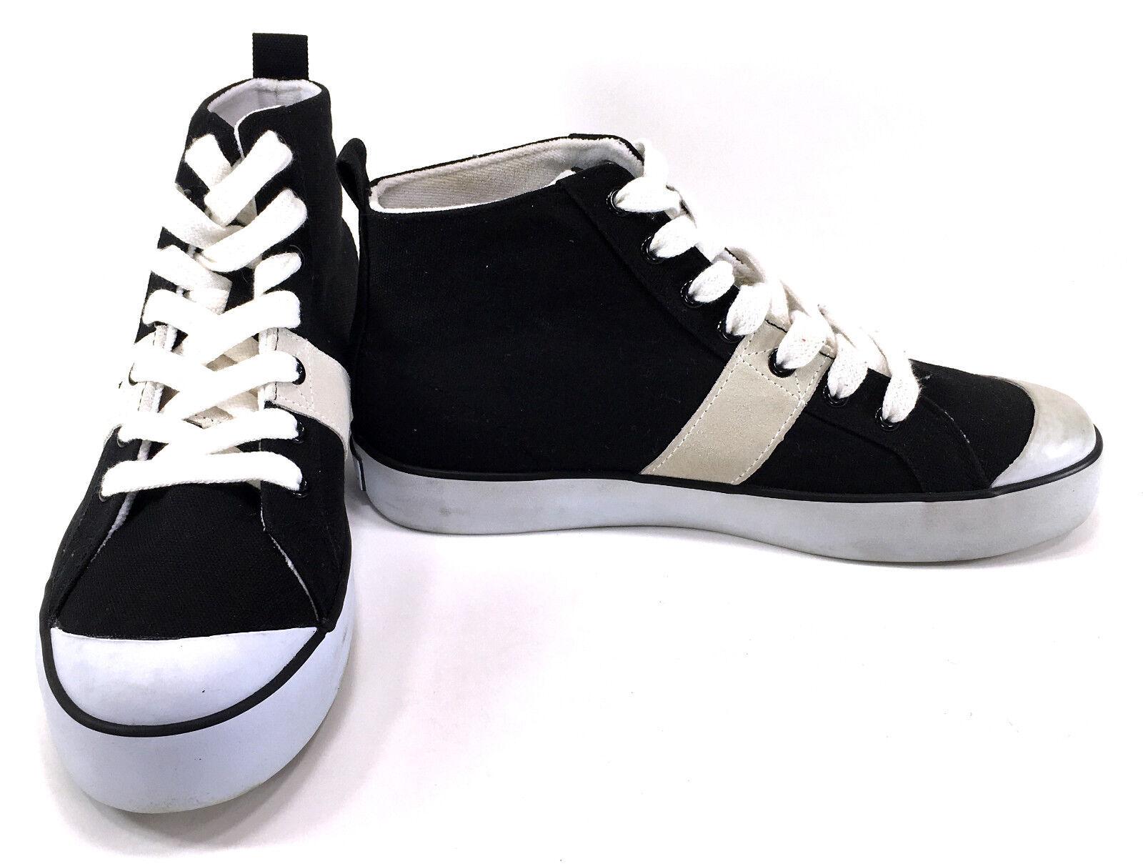 Polo Ralph Lauren shoes Conrad Canvas Black White Sneakers Size 7.5
