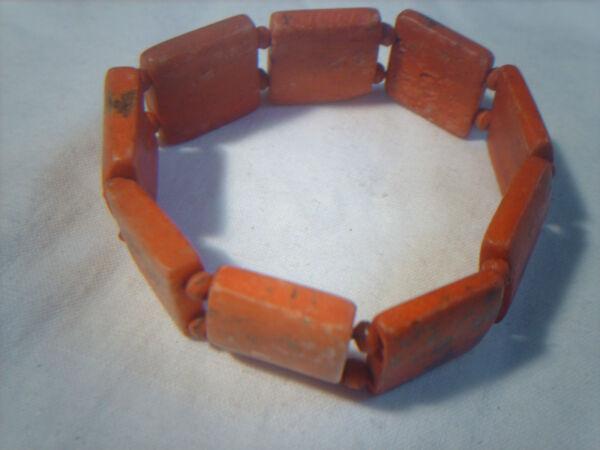 Armband Aus Gefärbten Beinknochen - Handarbeit - Nepal