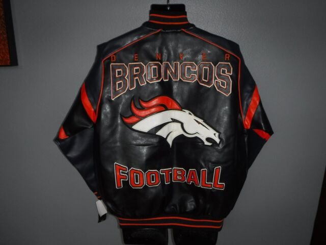 213af03a7 NFL Denver Broncos Jacket Lined Medium Mens Football G-iii Faux Leather  Stitched