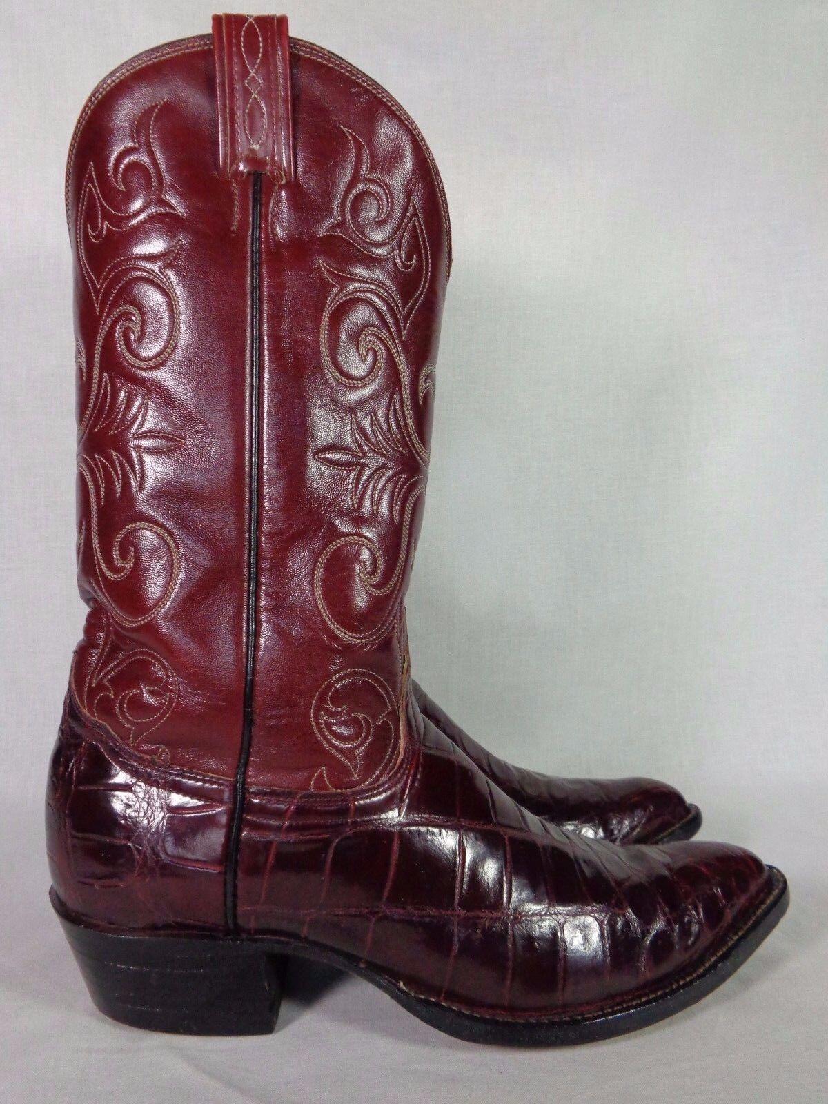 Tony Lama para Hombre botas Rey exótico Cocodrilo El Piel Vintage Western 9 D