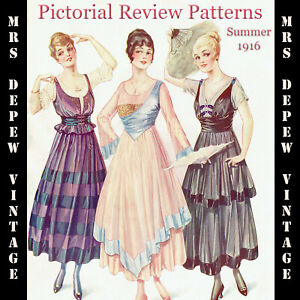Vintage-Pattern-Catalog-Pictorial-Review-Fashion-Book-Quarterly-Summer-1916