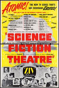 SCIENCE FICTION THEATRE__Orig. 1955 Trade AD / TV sci-fi promo__TRUMAN BRADLEY