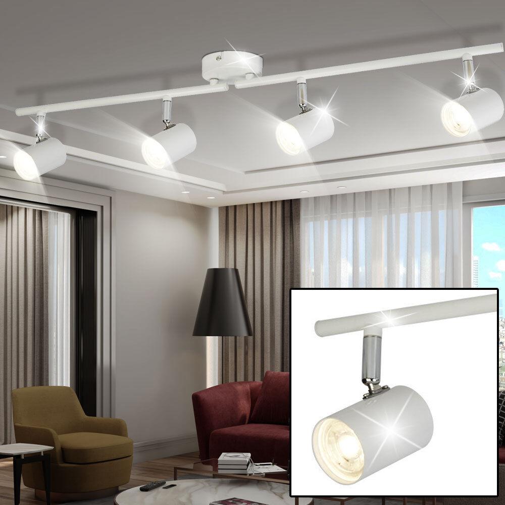 LED ceiling light living room lighting spot light rail lamp adjustable Weiß