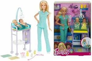 Barbie-Careers-Baby-Doctor-Ages-3-Toy-Doll-Play-Gift-Girls-House-Bath-Mobile