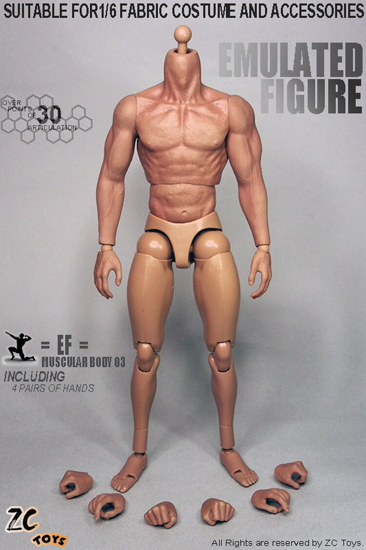 ZC Toys 1 6 3.0 Muscular male Figure Body With Seamless Arms Fit Fabric costume