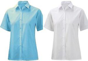 Girls School Uniform breve/llong Sleeve Camicia Schoolwear SMART Blusa Taglia 22-46  </span>