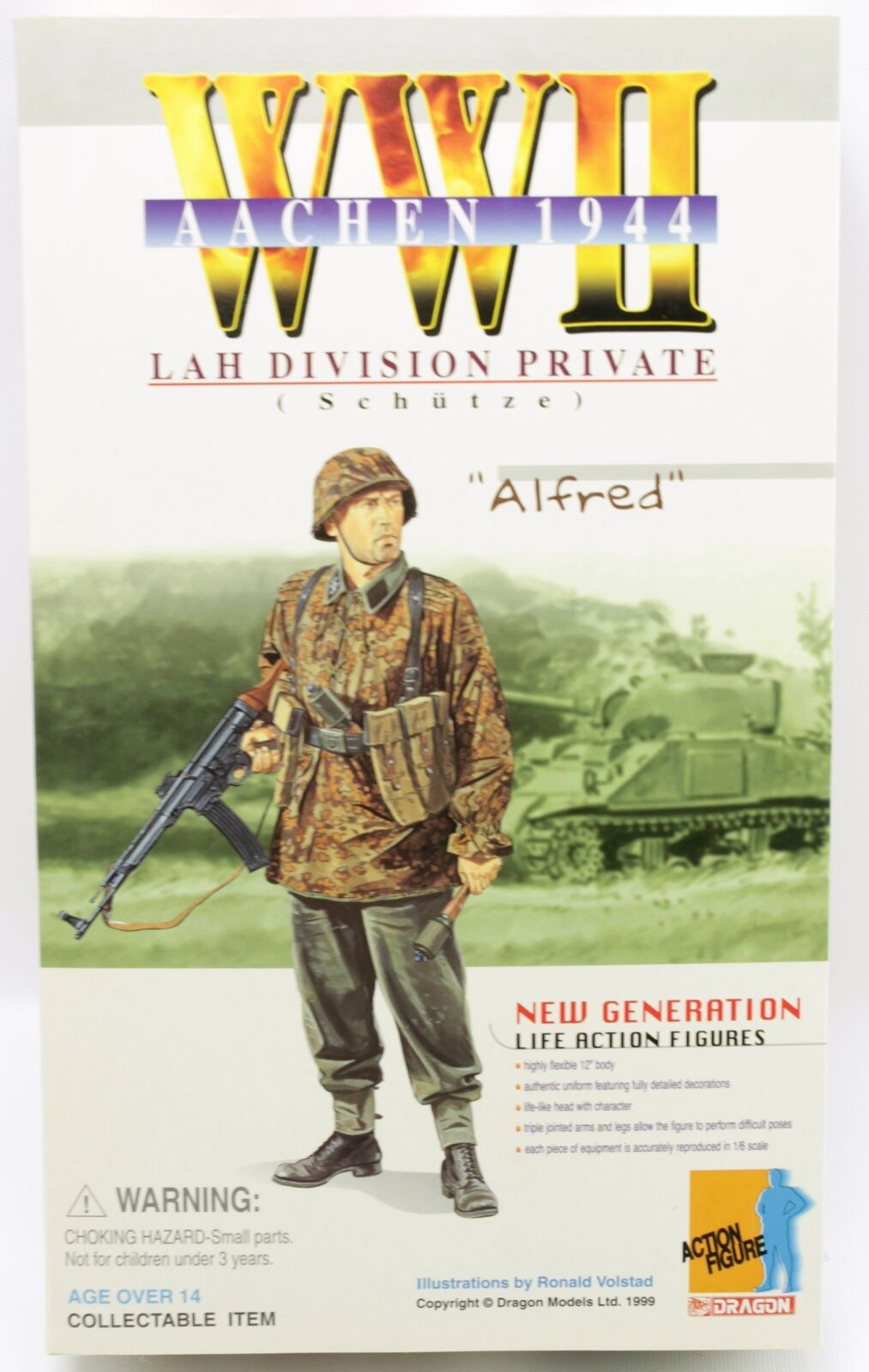 WWII Alfred LAH Division Private Schutze Aachen 1944 Dragon 12  Figure