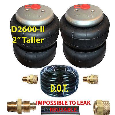 "Air Lift 2500-I 4 Air Bags Single Port 3//8/"" Airhose Springs Suspension Fittings"