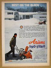 1969 Ariens Sno-Thro Snowblower man blowing snow photo vintage print Ad
