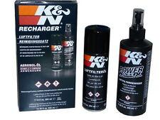 K&N Filtro aria sportivo Set pulizia Spray pulizia 335ml Filtro olio 204ml PLS13