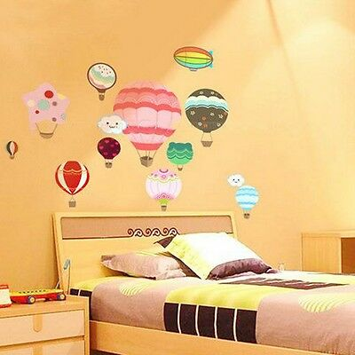 ON SALE Hot Air Balloons & Clouds Wall Stickers Mural Decal Childrens Kids Sky