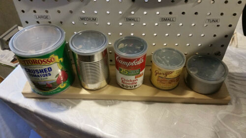 Four 4 Clear Plastic Use for Storage. Lids for Tin Cans PE
