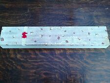 Vintage shabby chic handmade wooden knitting needle box / case decoupage - Roses