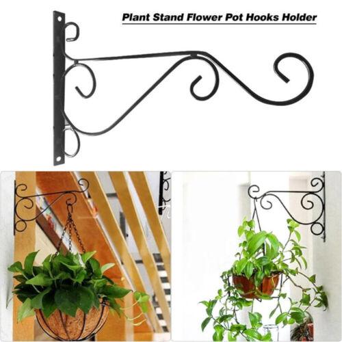 Metal Hanging Planters Holder Wall Mount Plant Hanger Hook Shelf For Home Decor