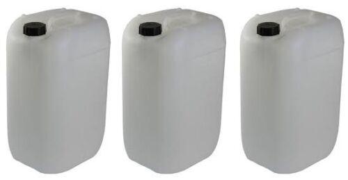 3 x 25L litri NUOVO Plastica Conservazione dell/' Acqua Contenitore Cibo BENZINA può ESERCITO COMBUSTIBILE 20L