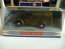"""Dinky Matchbox 1950 Ford E83W 10 CWT Van """"Radio Times"""" in Green on 1:43 in Box"""
