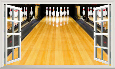 10 Dieci Pin Bowling Alley 3d Magic Finestra Wall Art Poster Vinile Autoadesivo V2-